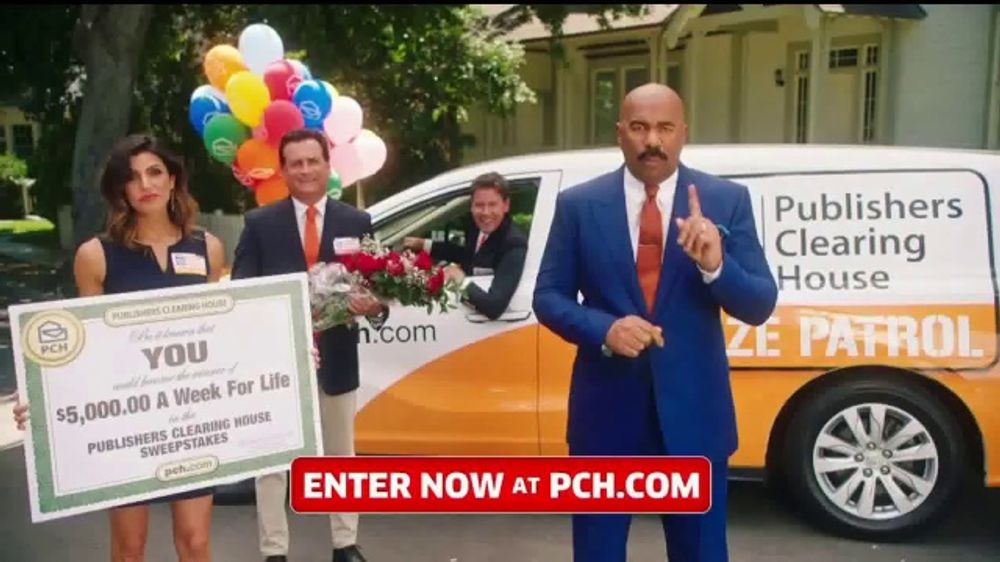 Publishers Clearing House TV Commercial, '$5,000 a Week for Life: Question'  Featuring Steve Harvey - Video