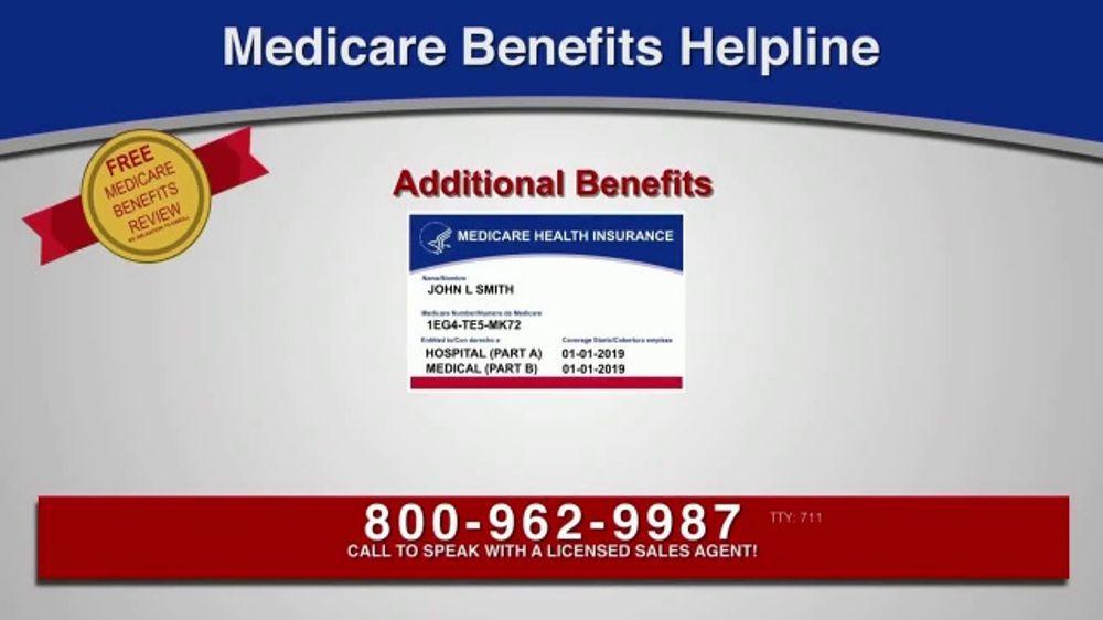 Medicare Benefits Helpline TV Commercial, 'Additional Medicare Benefits'