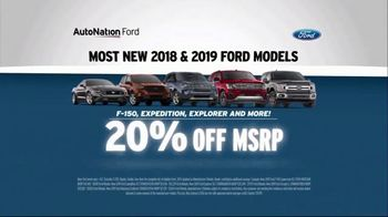 AutoNation TV Spot, '2018 and 2019 Ford Models' - Thumbnail 4