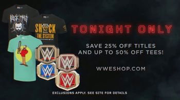 WWE Shop TV Spot, 'Inspired by Millions: 25 Percent off Titles and 50 Percent off Tees' - Thumbnail 7