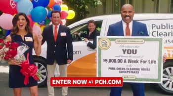 Publishers Clearing House TV Spot, '$5,000 a Week for Life: Big Check' Featuring Steve Harvey - 567 commercial airings