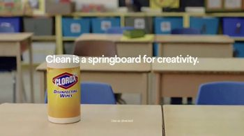 Clorox Disinfecting Wipes TV Spot, 'Springboard for Creativity' - Thumbnail 4