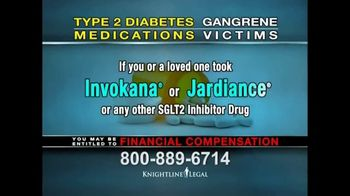 Knightline Legal TV Spot, 'Invokana and Jardiance Law Suit' - Thumbnail 5