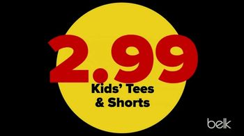 Belk End of Season Clearance Blowout TV Spot, 'Kids Tees and Shorts, Men's Tees and Women's Knits' - Thumbnail 3