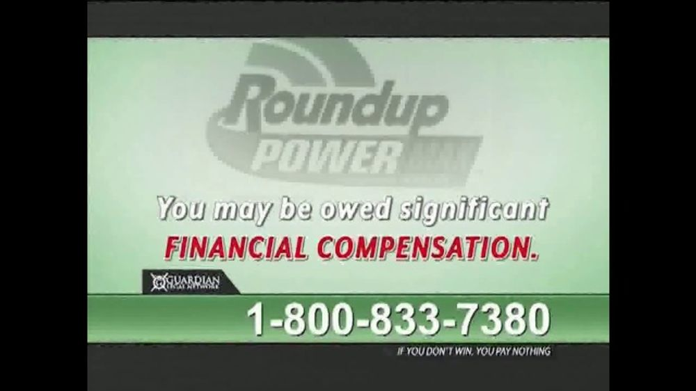 Guardian Legal Network TV Commercial, 'Roundup Compensation' - iSpot.tv