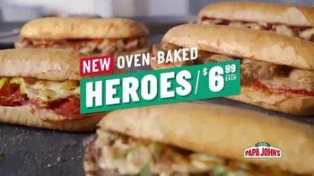 Papa John's Oven-Baked Heroes TV Spot, 'Stuffed' - Thumbnail 6