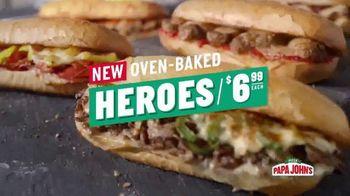 Papa John's Oven-Baked Heroes TV Spot, 'Stuffed' - Thumbnail 7