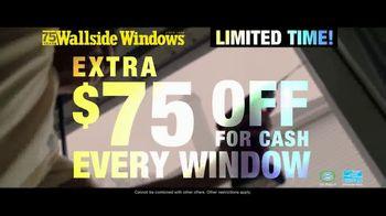 Wallside Windows TV Spot, 'Buy One Get One: Extra $75 Off' - Thumbnail 4