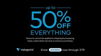 Vistaprint Right Now Sale TV Spot, 'July Semi-Annual Sale'