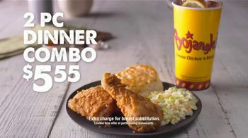 Bojangles' 2-Piece Dinner Combo TV Spot, 'Leg, Thigh and Biscuit' - Thumbnail 2