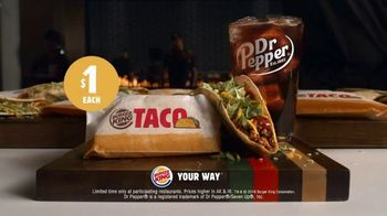 Burger King $1 Taco TV Spot, 'Taco-Bout a Surprise' Song by Lipps, Inc. - Thumbnail 8