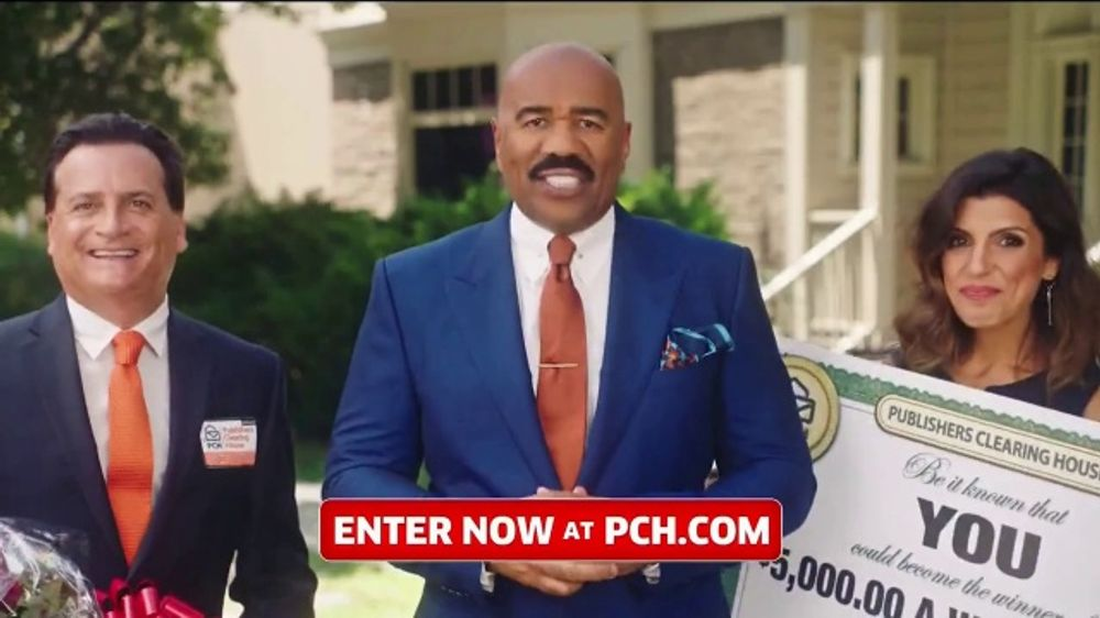 Publishers Clearing House TV Commercial, '5,000 a Week for Life: Good News'  Featuring Steve Harvey - Video