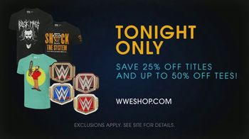 WWE Shop TV Spot, 'Come One, Come All: Titles and Tees' Song by SATV Music - 2 commercial airings