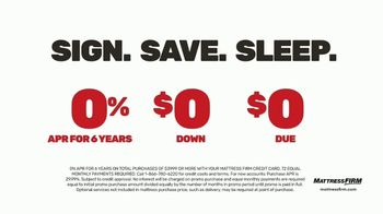 Mattress Firm Save Big Sale TV Spot, 'Ends Tuesday: Save Up to $400 and Sign Save Sleep' - Thumbnail 5