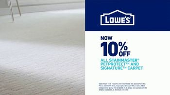 Lowe's TV Spot, 'Free Installation of Stainmaster Carpet & 10 Percent Off PetProtect' - Thumbnail 7