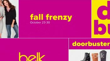 Belk Fall Frenzy TV Spot, 'Fleece, Boots and Shoes' - Thumbnail 3