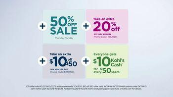 Kohl's 50 Percent Off Sale TV Spot, 'Stack the Savings' - Thumbnail 8