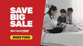 Mattress Firm Save Big Sale TV Spot, 'Ends Tuesday: Save up to $400, No APR & Base' - Thumbnail 2