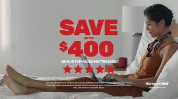 Mattress Firm Save Big Sale TV Spot, 'Ends Tuesday: Save up to $400, No APR & Base'