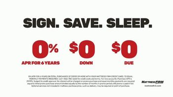 Mattress Firm Save Big Sale TV Spot, 'Ends Tuesday: Save up to $400, No APR & Base' - Thumbnail 4