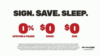 Mattress Firm Save Big Sale TV Spot, 'Ends Tuesday: Save up to $400, No APR & Base' - Thumbnail 6
