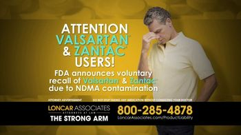 Loncar & Associates TV Spot, 'Valsartan and Zantac'