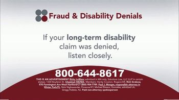 Sokolove Law TV Spot, 'Fraud and Disability Denials' - Thumbnail 2