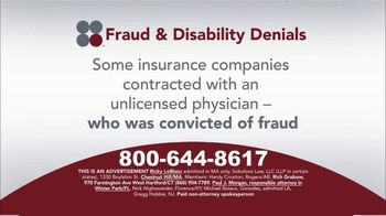 Sokolove Law TV Spot, 'Fraud and Disability Denials' - Thumbnail 3