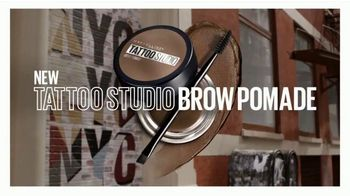 Maybelline Tattoo Studio Brow Pomade TV Spot, 'The New Sculpted Brow' - Thumbnail 3