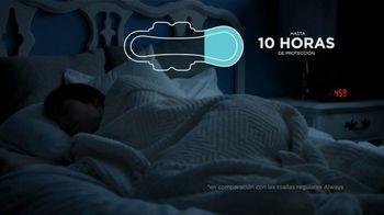 Always Maxi Overnight Pads TV Spot, 'Dormir bien' [Spanish] - Thumbnail 4