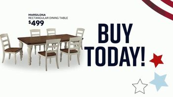 Ashley HomeStore Memorial Day Sale TV Spot, 'Summer's Hottest Deals: Panel Beds & Sofas' Song by Midnight Riot