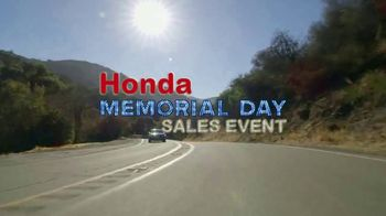 Honda Memorial Day Sales Event TV Spot, 'Iconic Statement' [T2] - Thumbnail 9