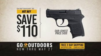 Bass Pro Shops Go Outdoors Event and Sale TV Spot, 'S&W Pistol & American Eagle Rifle Ammo' - Thumbnail 6