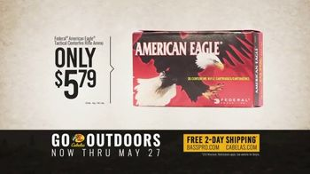 Bass Pro Shops Go Outdoors Event and Sale TV Spot, 'S&W Pistol & American Eagle Rifle Ammo' - Thumbnail 7