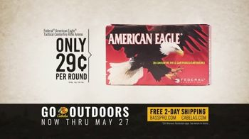 Bass Pro Shops Go Outdoors Event and Sale TV Spot, 'S&W Pistol & American Eagle Rifle Ammo' - Thumbnail 8