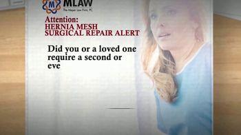 Meyer Law Firm TV Spot, 'Hernia Mesh Surgical Repair Alert'
