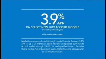 2019 Honda Accord TV Spot, 'Driver's Seat' Featuring James Hinchcliffe [T2] - Thumbnail 7