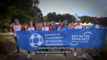 American Foundation for Suicide Prevention TV Spot, '2019 Out of the Darkness Community Walk'