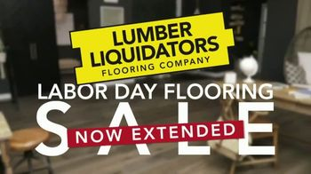 Lumber Liquidators Labor Day Flooring Sale TV Spot, 'Extended: Up to 50 Percent on 300 Floors'