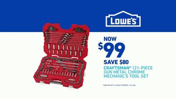 Lowe's TV Spot, 'Craftsman 121-Piece Chrome Mechanic's Tool Set' - Thumbnail 7