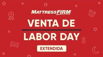 Mattress Firm Venta de Labor Day TV Spot, 'Extendida: King a precio Queen' [Spanish] - Thumbnail 1