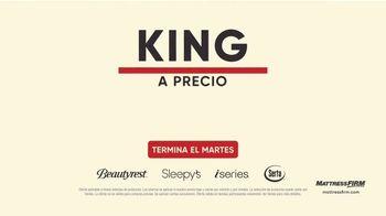 Mattress Firm Venta de Labor Day TV Spot, 'Extendida: King a precio Queen' [Spanish]