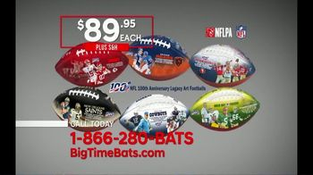 Big Time Bats TV Spot, 'NFL Legacy Art' - 123 commercial airings