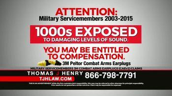 Thomas J. Henry Injury Attorneys TV Spot, '3M Earplug Military Hearing Loss Claims: Paid Ad' - Thumbnail 3