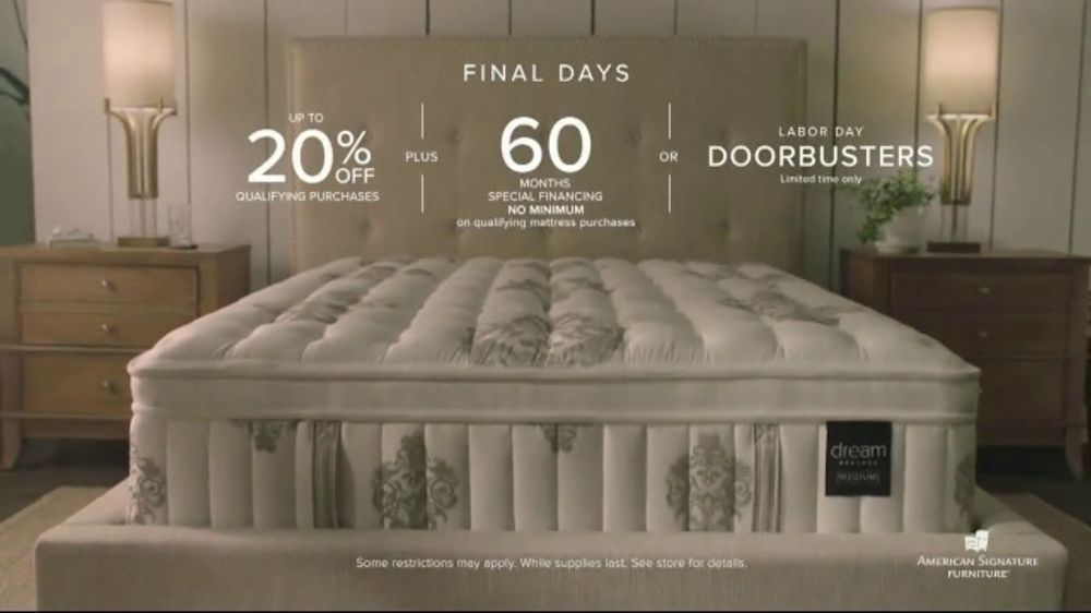 American Signature Furniture Labor Day Sale TV Commercial, 'The Best Sleep Experience Ever'