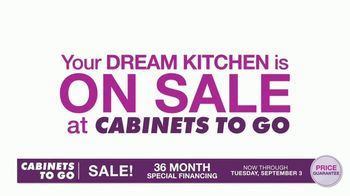 Cabinets To Go TV Spot, 'Dream Kitchen: Free Wall Cabinet with Every Base Cabinet' - Thumbnail 1
