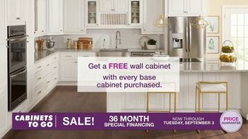 Cabinets To Go TV Spot, 'Dream Kitchen: Free Wall Cabinet with Every Base Cabinet' - Thumbnail 2