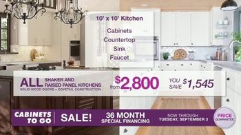 Cabinets To Go TV Spot, 'Dream Kitchen: Free Wall Cabinet with Every Base Cabinet' - Thumbnail 3
