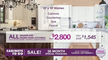 Cabinets To Go TV Spot, 'Dream Kitchen: Free Wall Cabinet with Every Base Cabinet' - Thumbnail 4