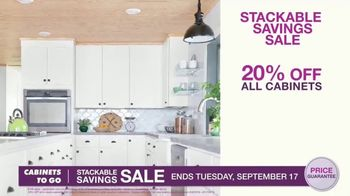 Cabinets To Go Stackable Savings Sale TV Spot, 'Save Big'